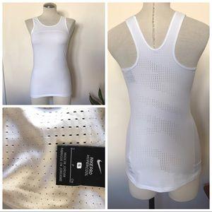 Nike pro hypercool tank in white